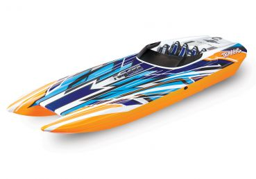 TRAXXAS BOAT M41 CAT 1030mm 1:10 EP RTR ORANGE TQi 2.4GHz