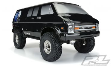 "'70s Rock Van Tough-Color (Black) Body for 12.3"" (313mm) Wheelbase Scale Crawlers"