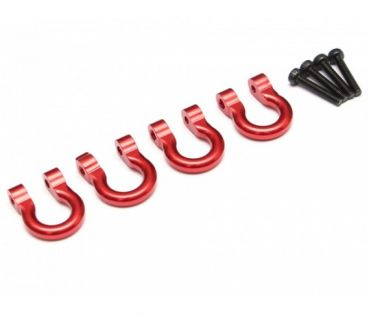 Aluminum Towing Hook 4Stk. rot