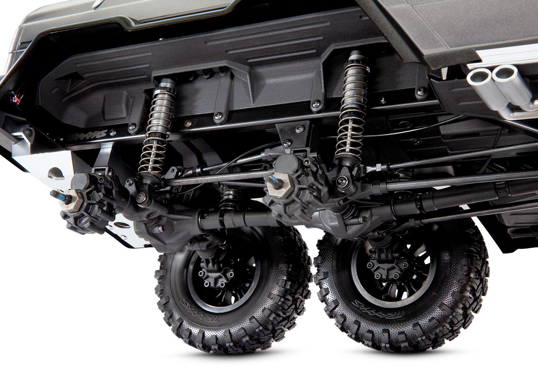 TRX-6 Mercedes-Benz G63 Upgrade Parts Aluminum Rear Knuckle Arm Inner Case 1Pr Set Silver Traxxas TRX-4 Trail Defender Crawler